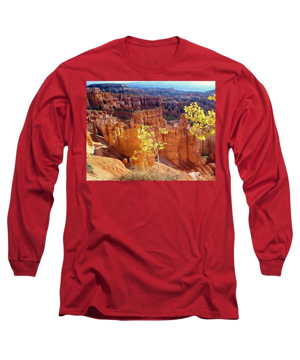 Bryce Canyon National Park Long Sleeve T-Shirt featuring the photograph Fall In Bryce Canyon by Marty Koch