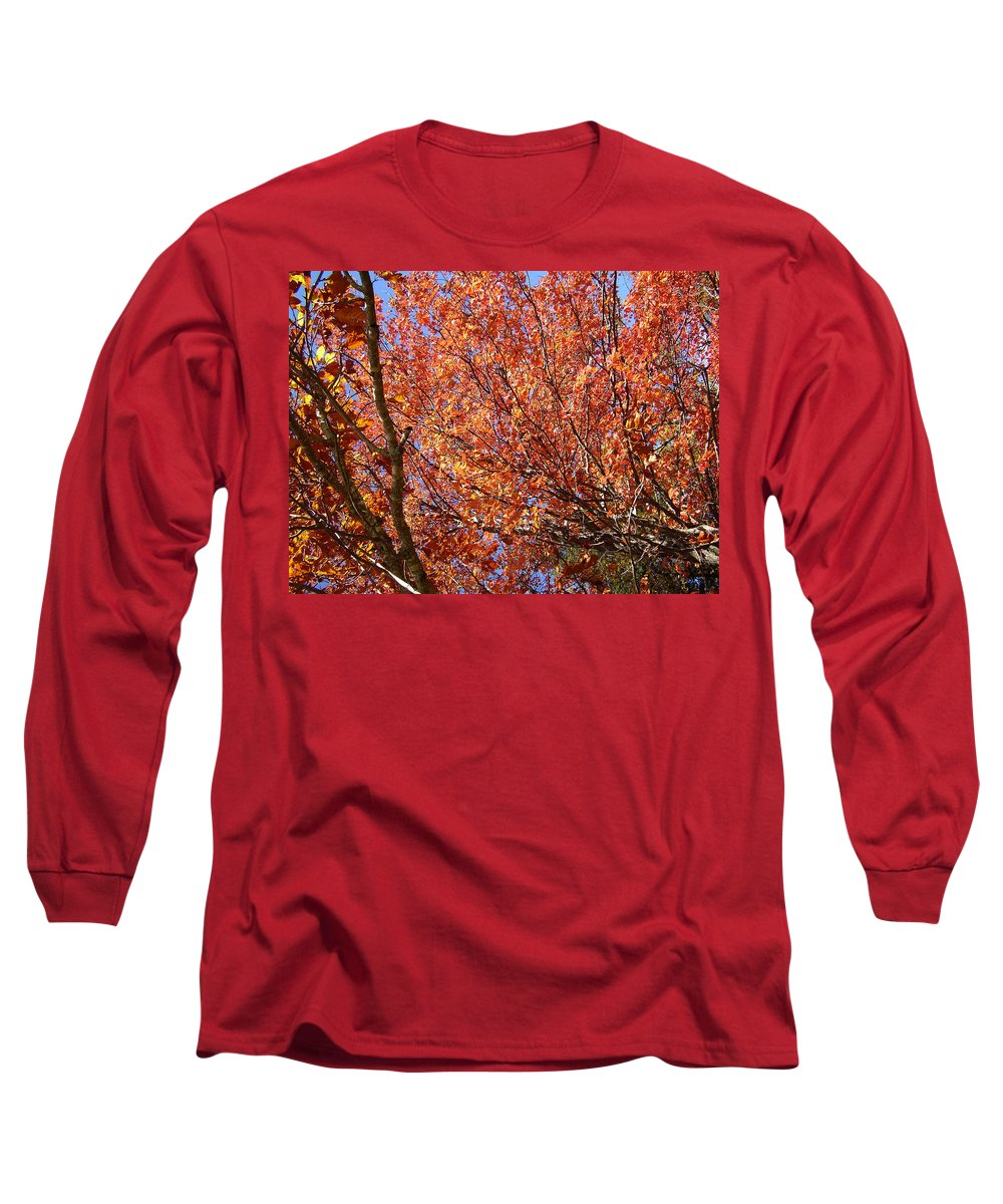 Fall Long Sleeve T-Shirt featuring the photograph Fall In The Blue Ridge Mountains by Flavia Westerwelle