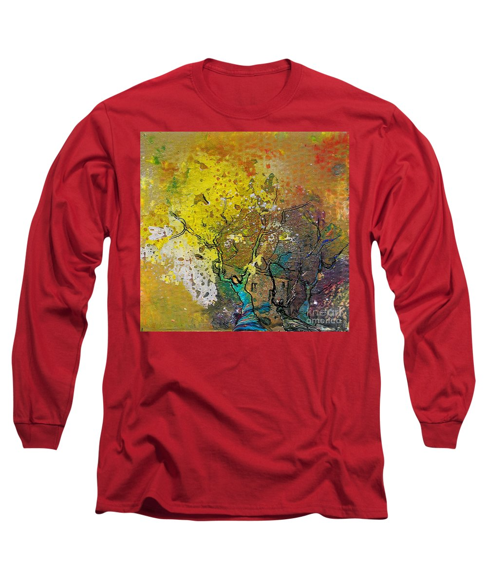 Miki Long Sleeve T-Shirt featuring the painting Fantaspray 13 1 by Miki De Goodaboom