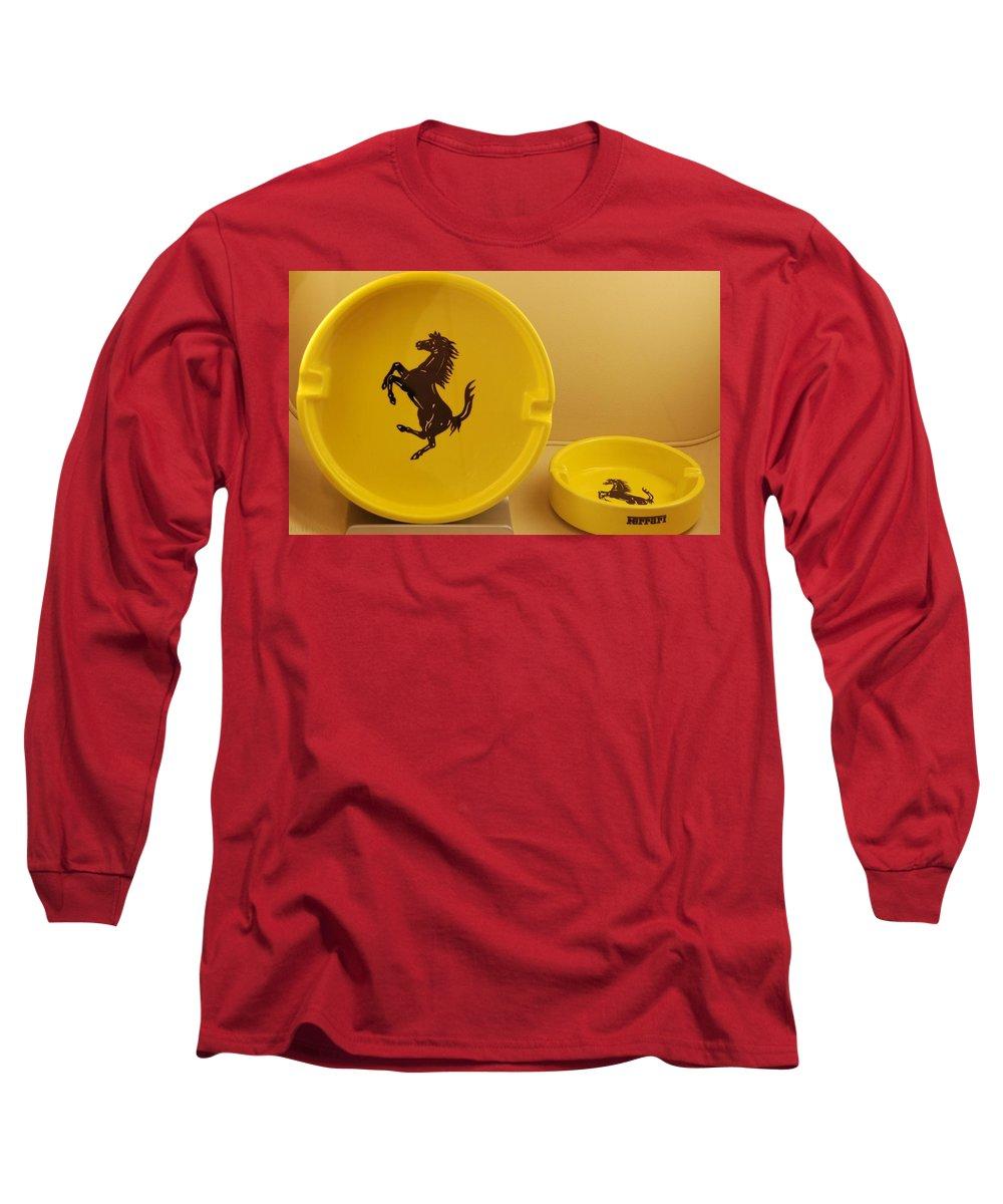 Stallion Long Sleeve T-Shirt featuring the photograph Ferrari Ash Catchers by Rob Hans