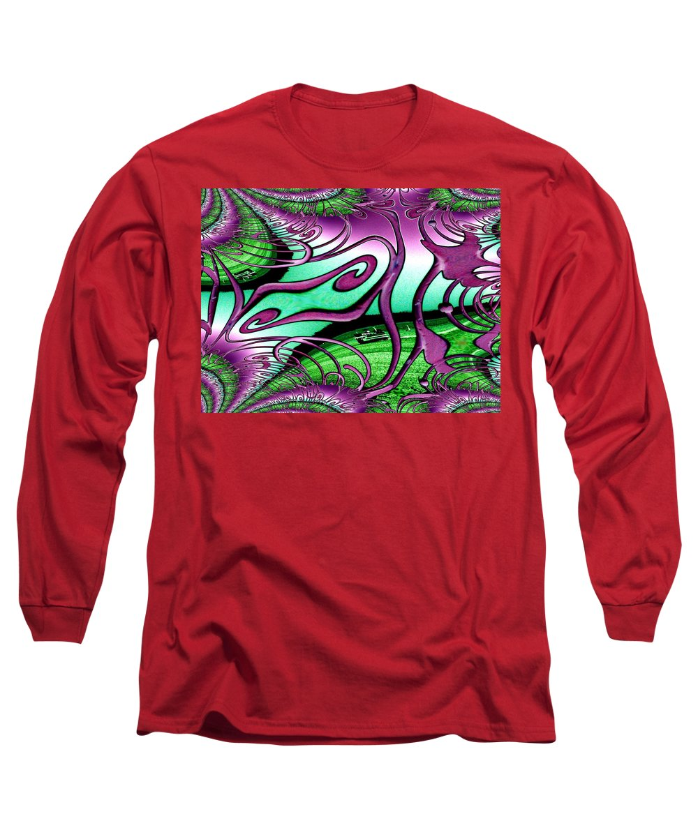 Seattle Long Sleeve T-Shirt featuring the digital art Ferry On Elliott Bay 2 by Tim Allen
