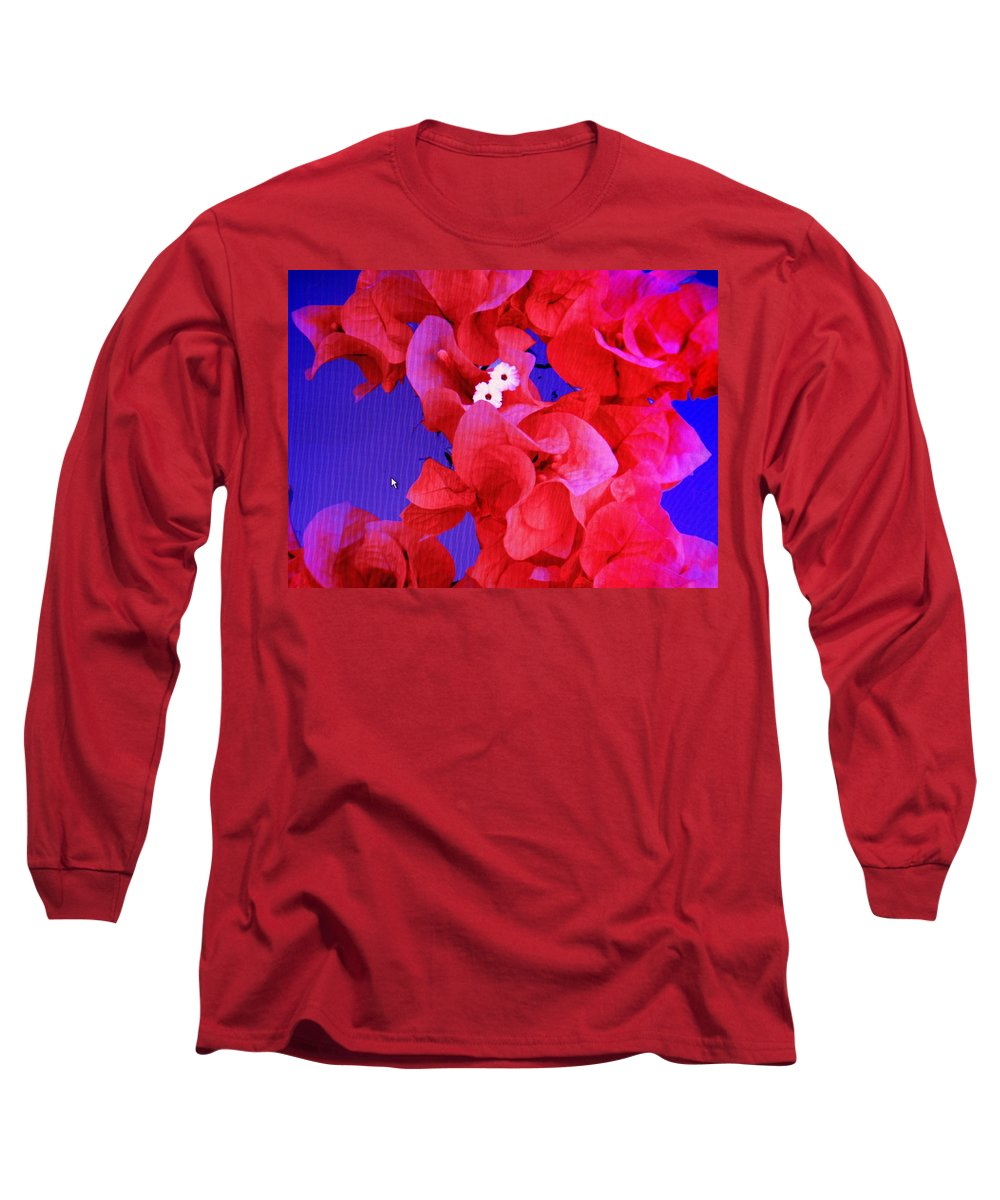Red Long Sleeve T-Shirt featuring the photograph Flower Fantasy by Ian MacDonald