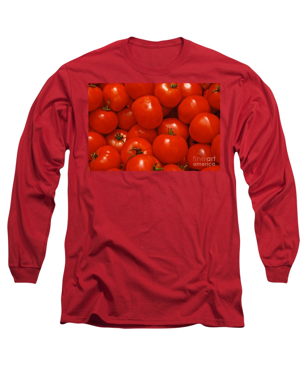 Tomato Long Sleeve T-Shirt featuring the photograph Fresh Red Tomatoes by Thomas Marchessault