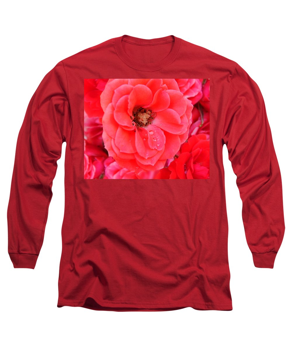 Roses Long Sleeve T-Shirt featuring the photograph Full Bloom by Anthony Jones