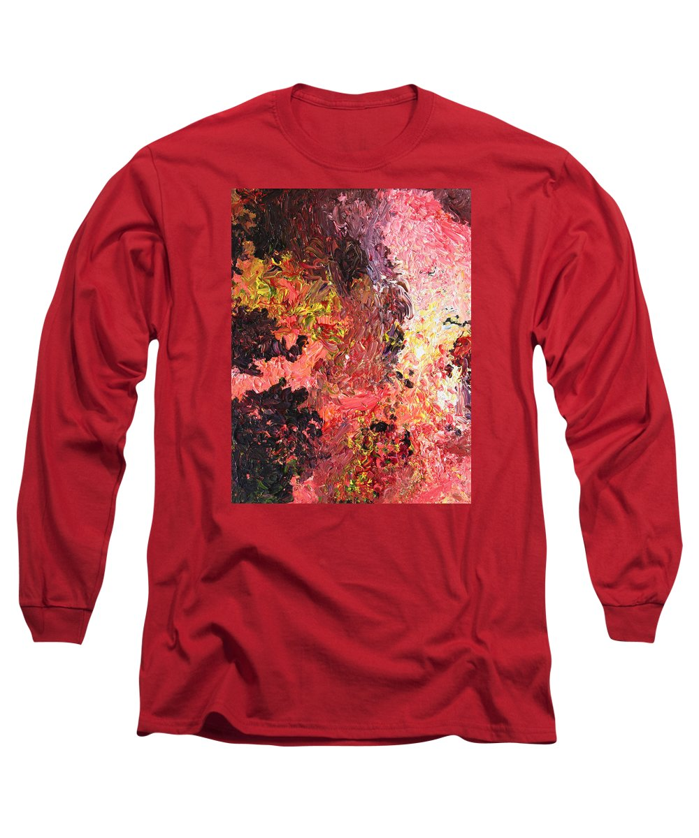Fusionart Long Sleeve T-Shirt featuring the painting Ganesh In The Garden by Ralph White