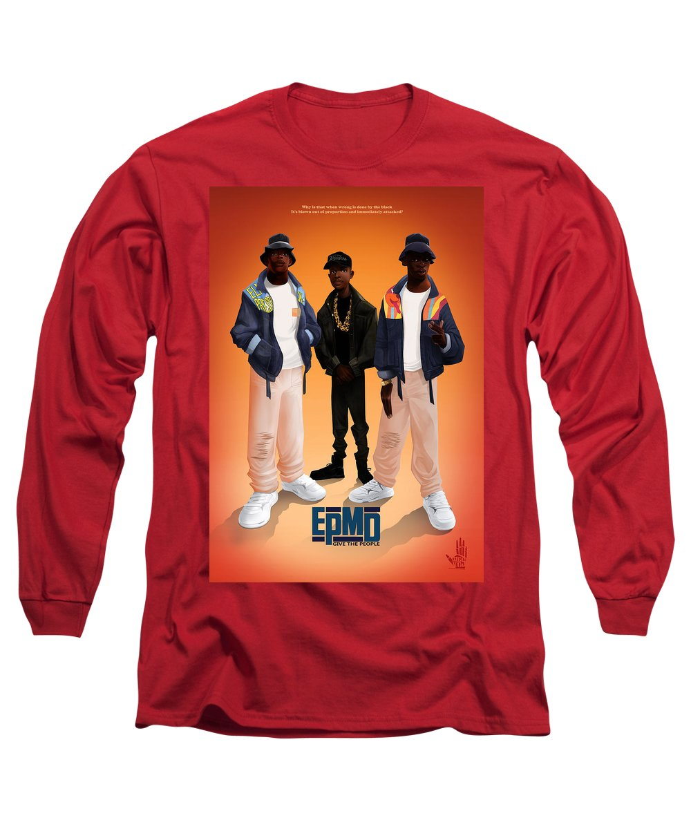 Hiphop Long Sleeve T-Shirt featuring the digital art Give The People by Nelson dedos Garcia