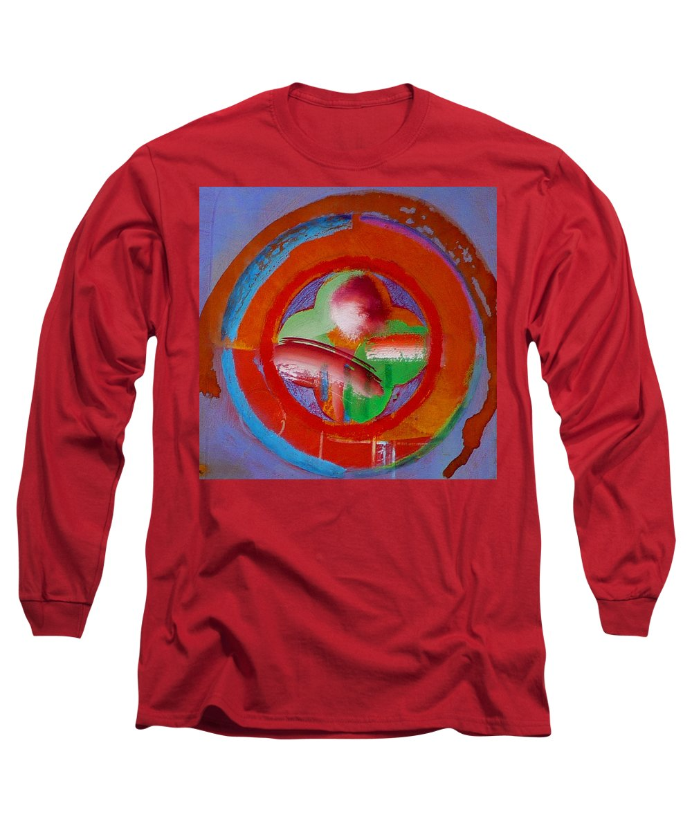 Love Long Sleeve T-Shirt featuring the painting Green Planet by Charles Stuart