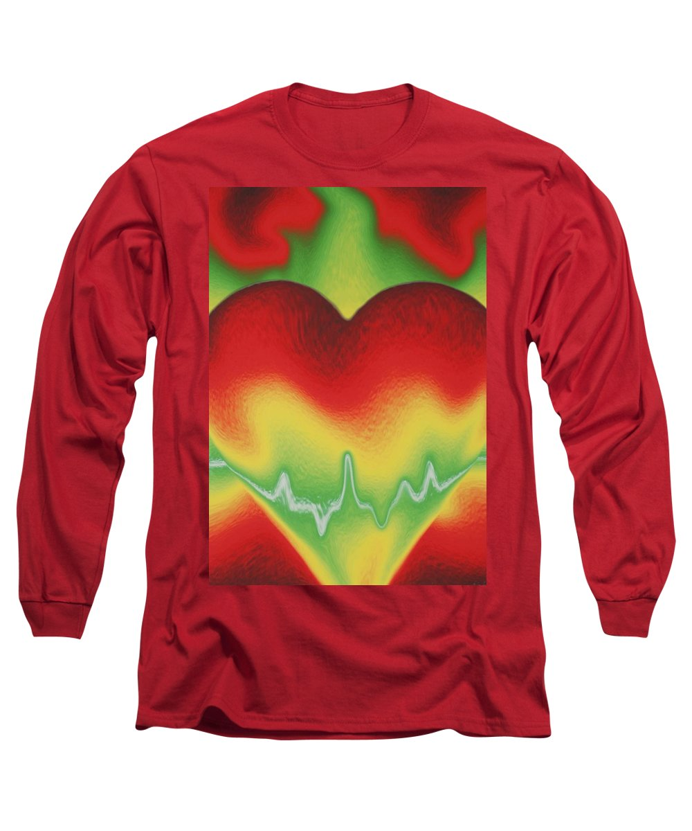 Heart Long Sleeve T-Shirt featuring the photograph Heart Beat by Rob Hans