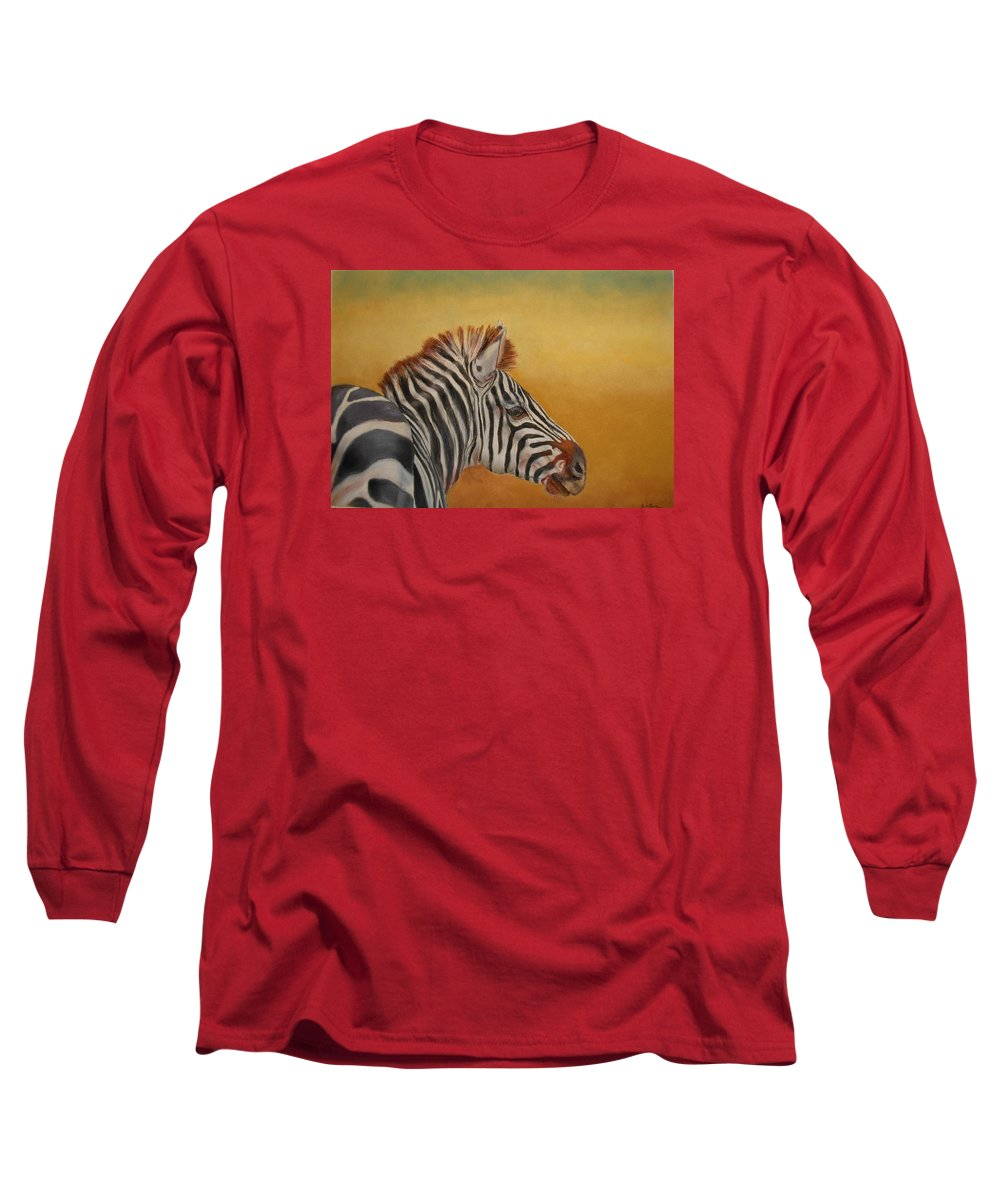 Africa Long Sleeve T-Shirt featuring the painting Hello Africa by Ceci Watson