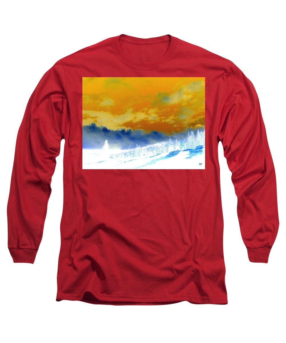 Impressions Long Sleeve T-Shirt featuring the digital art Impressions 2 by Will Borden
