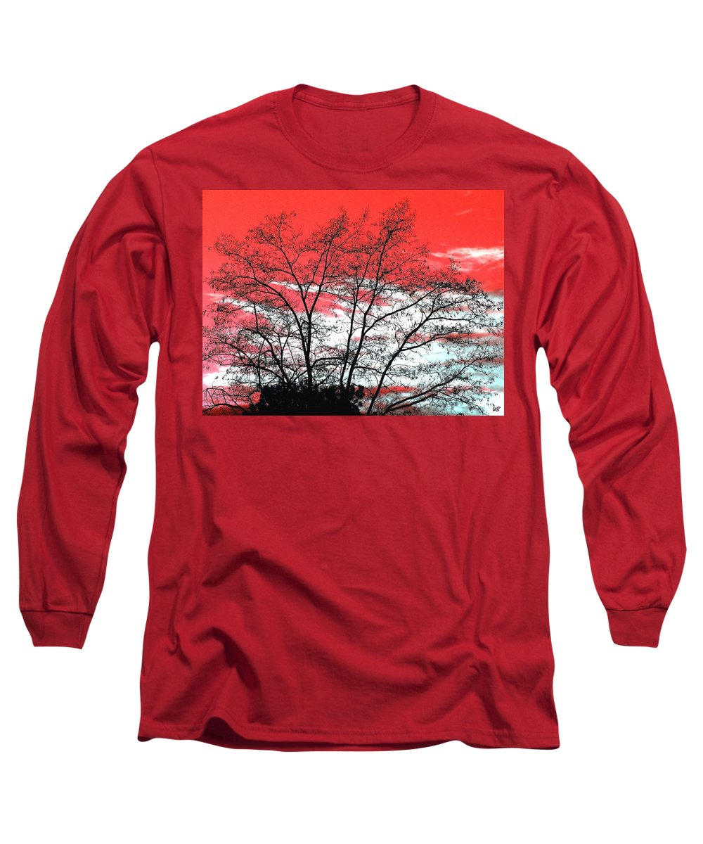 Impressions Long Sleeve T-Shirt featuring the digital art Impressions 6 by Will Borden