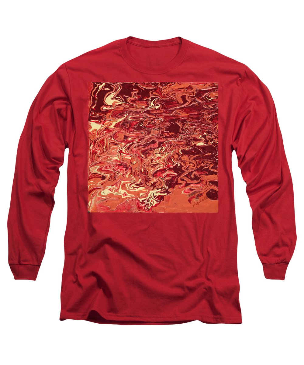 Fusionart Long Sleeve T-Shirt featuring the painting Indulgence by Ralph White