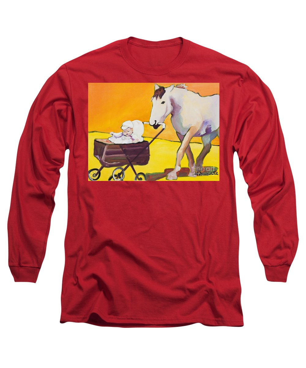 Animal Long Sleeve T-Shirt featuring the painting Jake by Pat Saunders-White