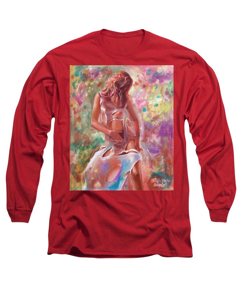 Ignatenko Long Sleeve T-Shirt featuring the painting Jam by Sergey Ignatenko