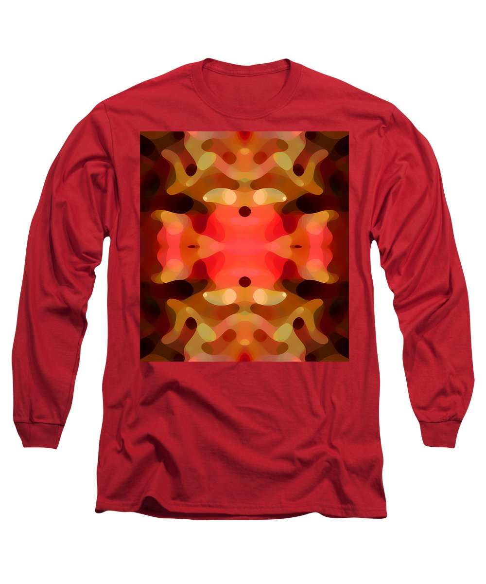 Abstract Painting Long Sleeve T-Shirt featuring the digital art Las Tunas Abstract Pattern by Amy Vangsgard