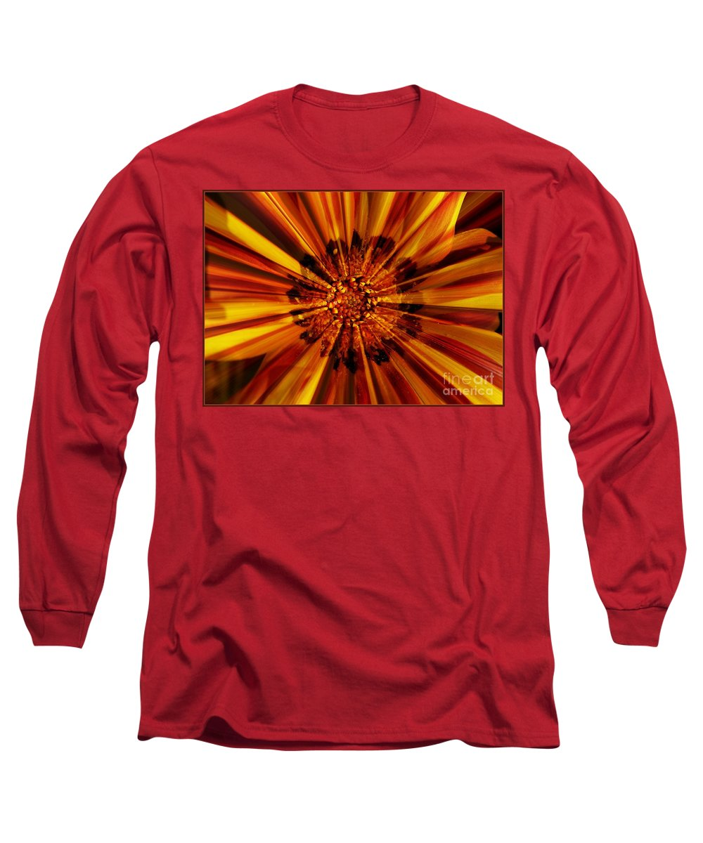 Nature Abstract Long Sleeve T-Shirt featuring the photograph Let Your Light Shine by Carol Groenen
