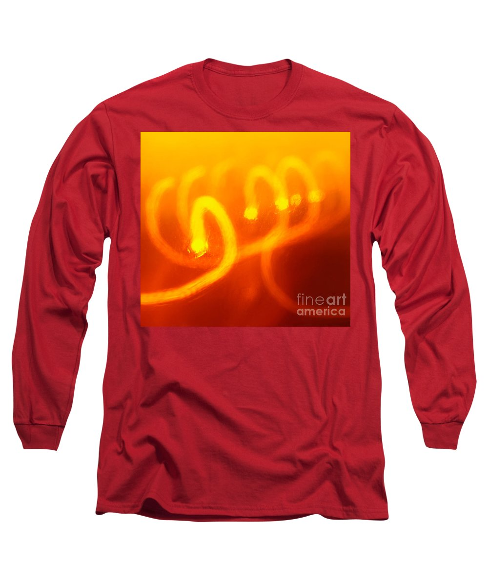 Abstract Long Sleeve T-Shirt featuring the photograph Light Trail Abstract by Gaspar Avila