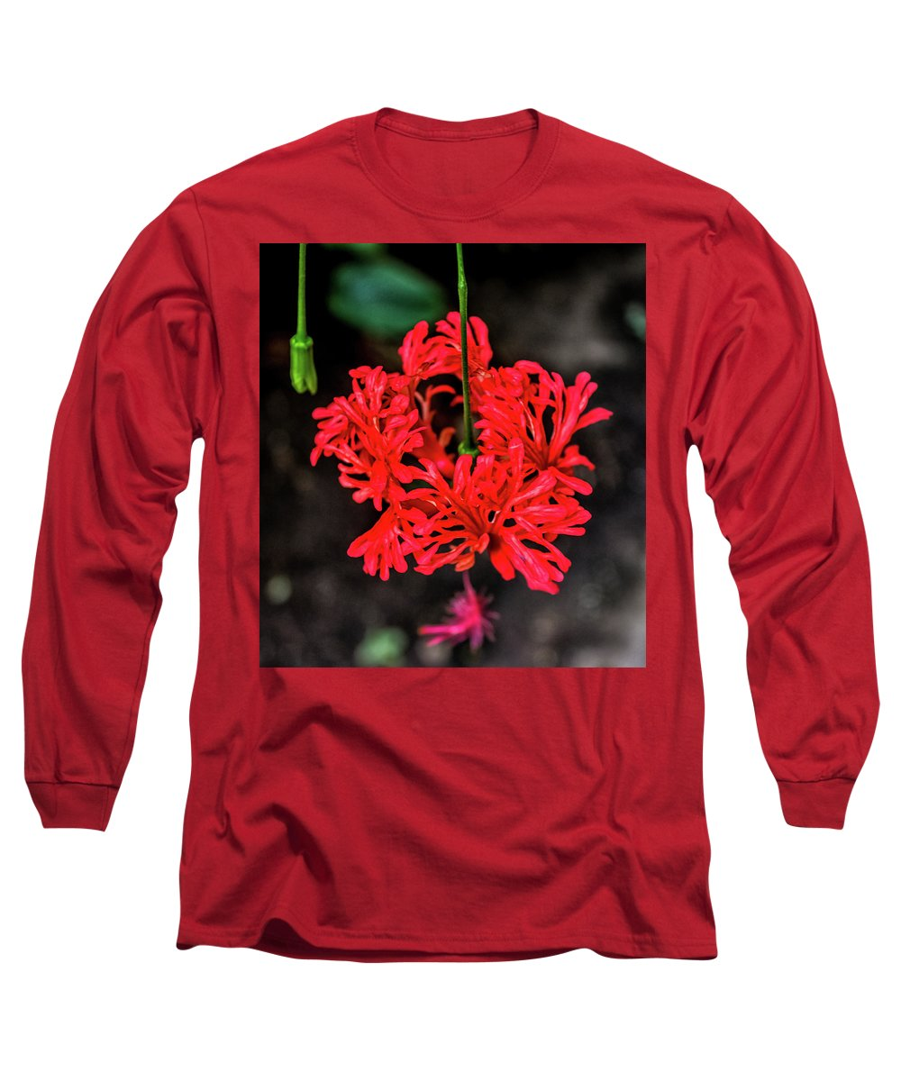 Watercolor Peony Photographs Long Sleeve T-Shirts