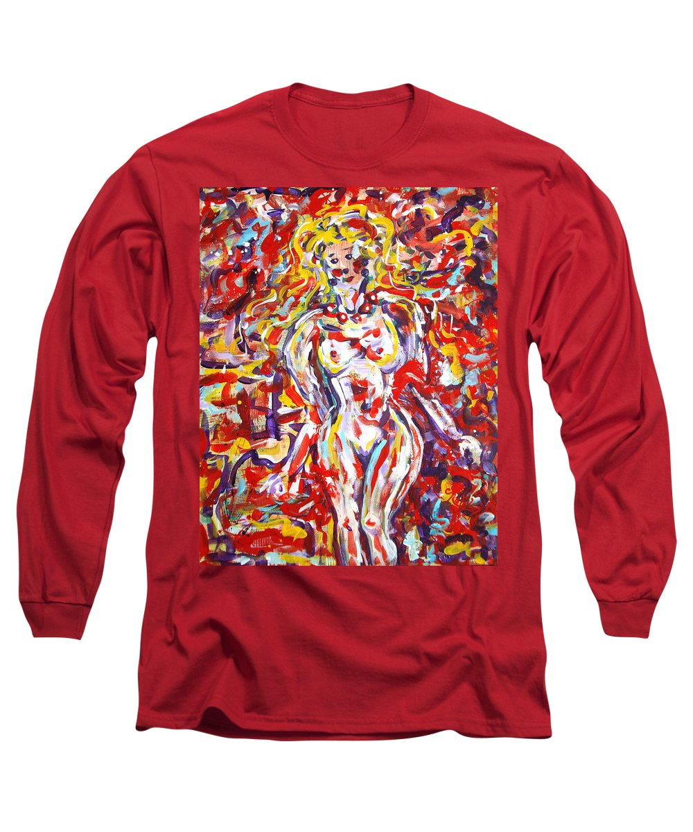 Expressionism Long Sleeve T-Shirt featuring the painting Longing For You by Natalie Holland