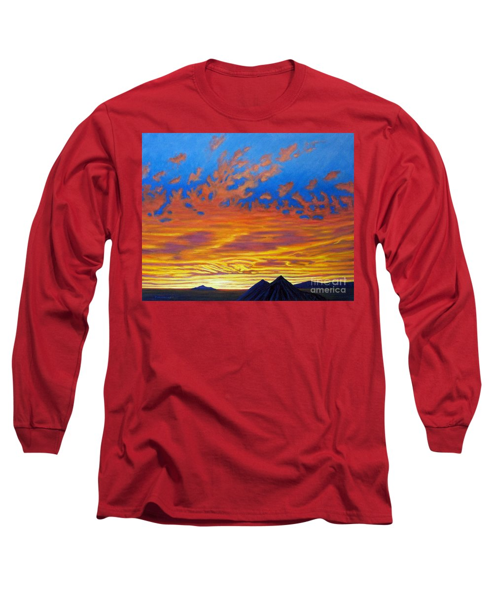 Landscape Long Sleeve T-Shirt featuring the painting Looking To The Southwest by Brian Commerford