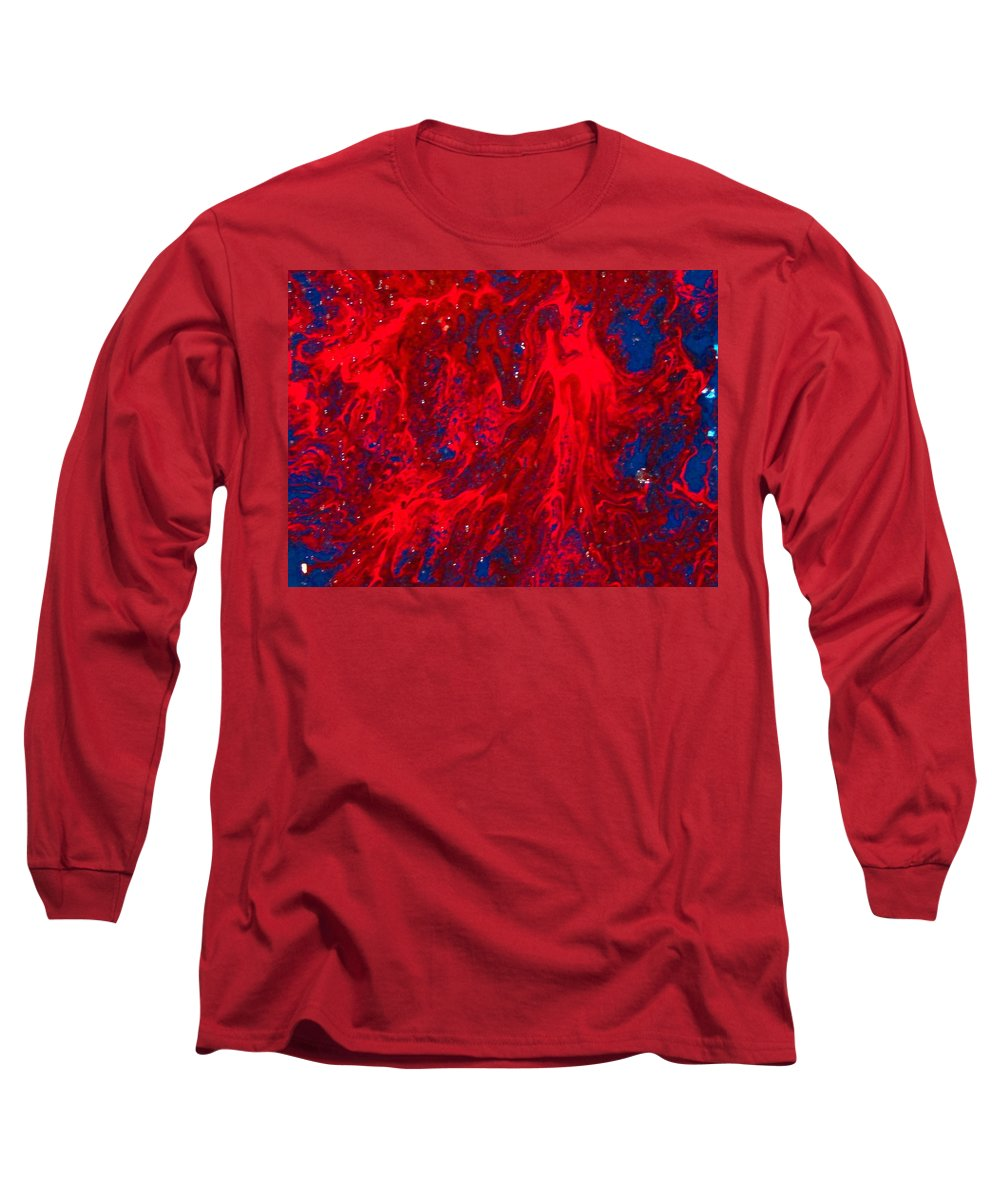 Abstract Art Long Sleeve T-Shirt featuring the painting Lost Souls by Natalie Holland