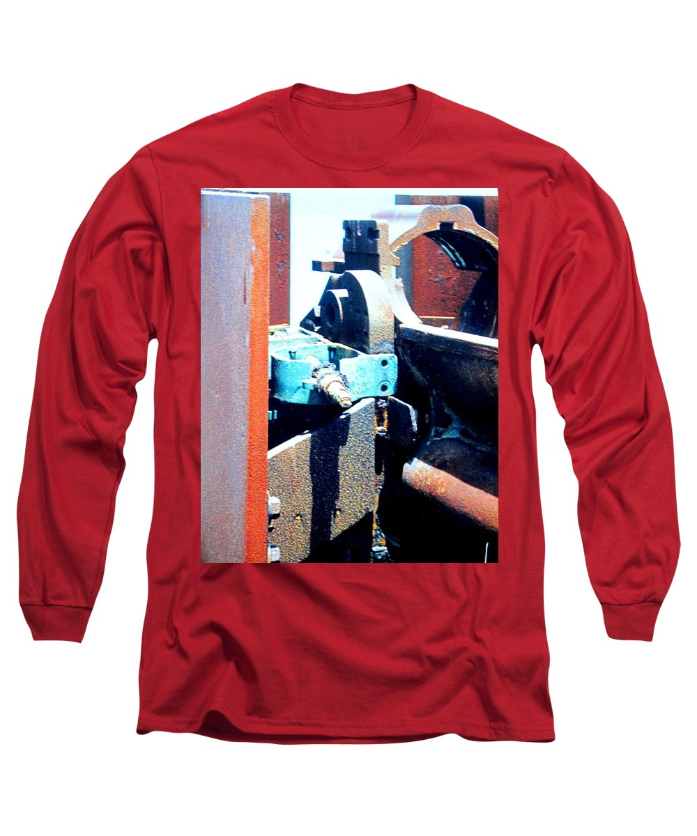 Rust Long Sleeve T-Shirt featuring the photograph Machinery by Ian MacDonald