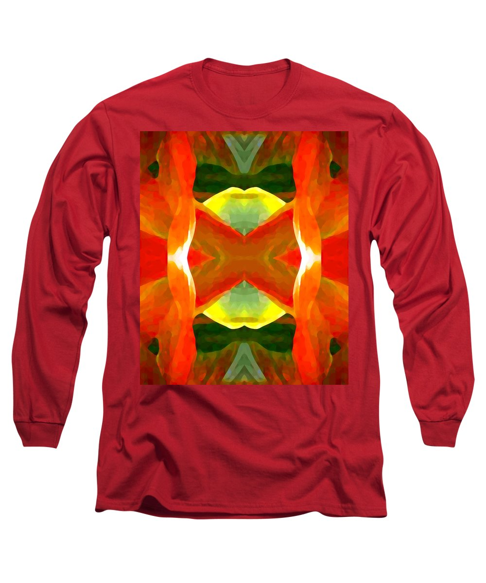 Abstract Long Sleeve T-Shirt featuring the painting Meditation by Amy Vangsgard