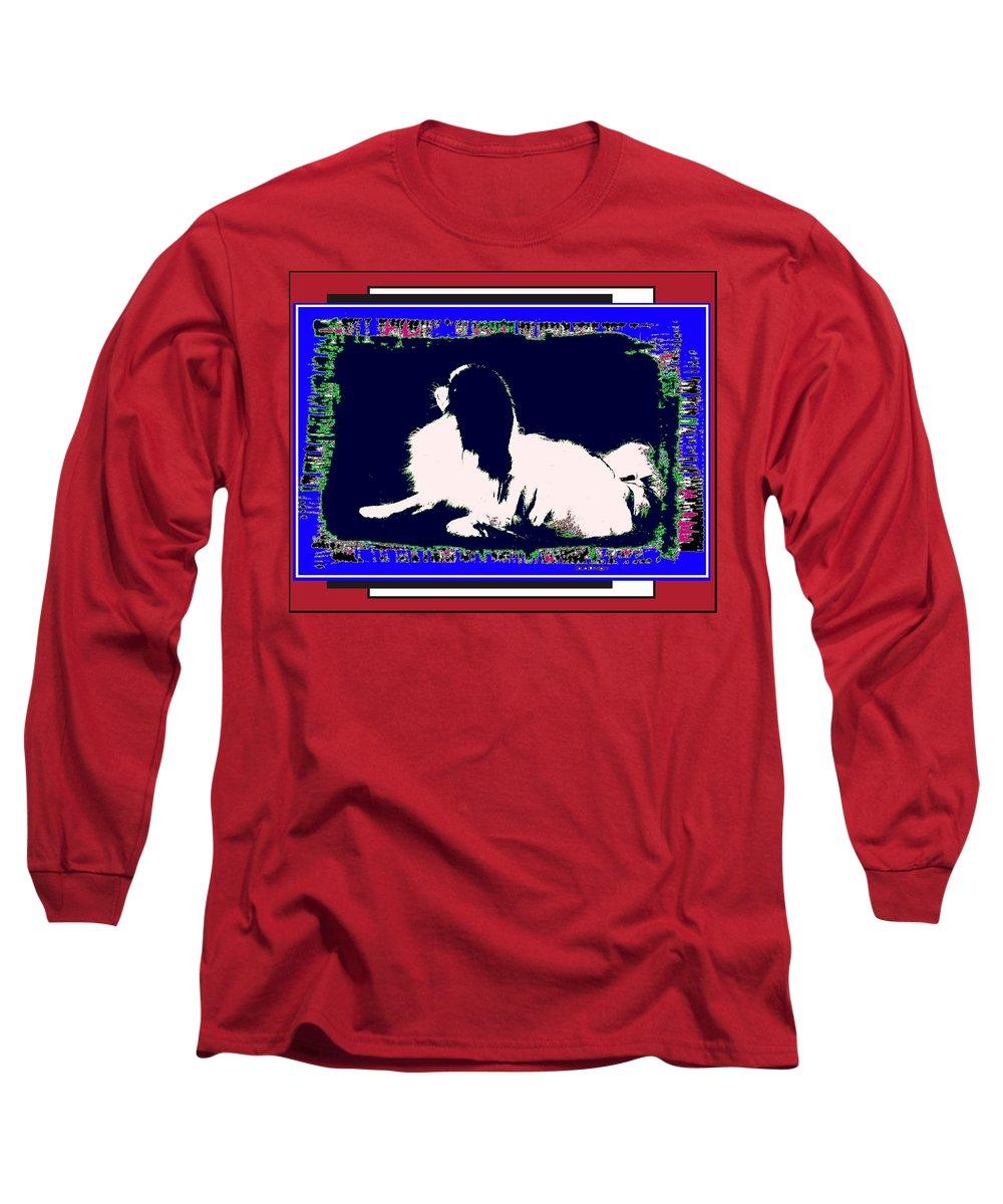 Mod Dog Long Sleeve T-Shirt featuring the digital art Mod Dog by Kathleen Sepulveda