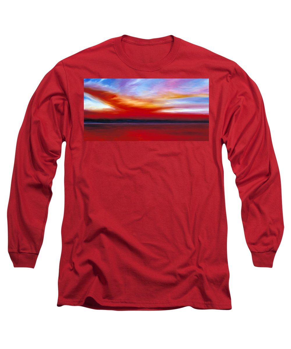 Clouds Long Sleeve T-Shirt featuring the painting October Sky by James Christopher Hill