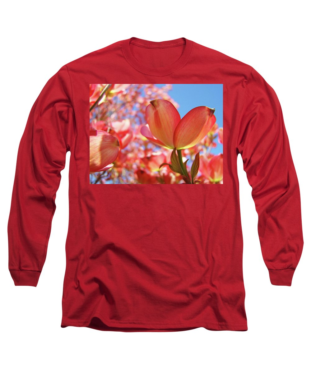Dogwood Long Sleeve T-Shirt featuring the photograph Office Art Prints Pink Dogwood Tree Flowers 4 Giclee Prints Baslee Troutman by Baslee Troutman