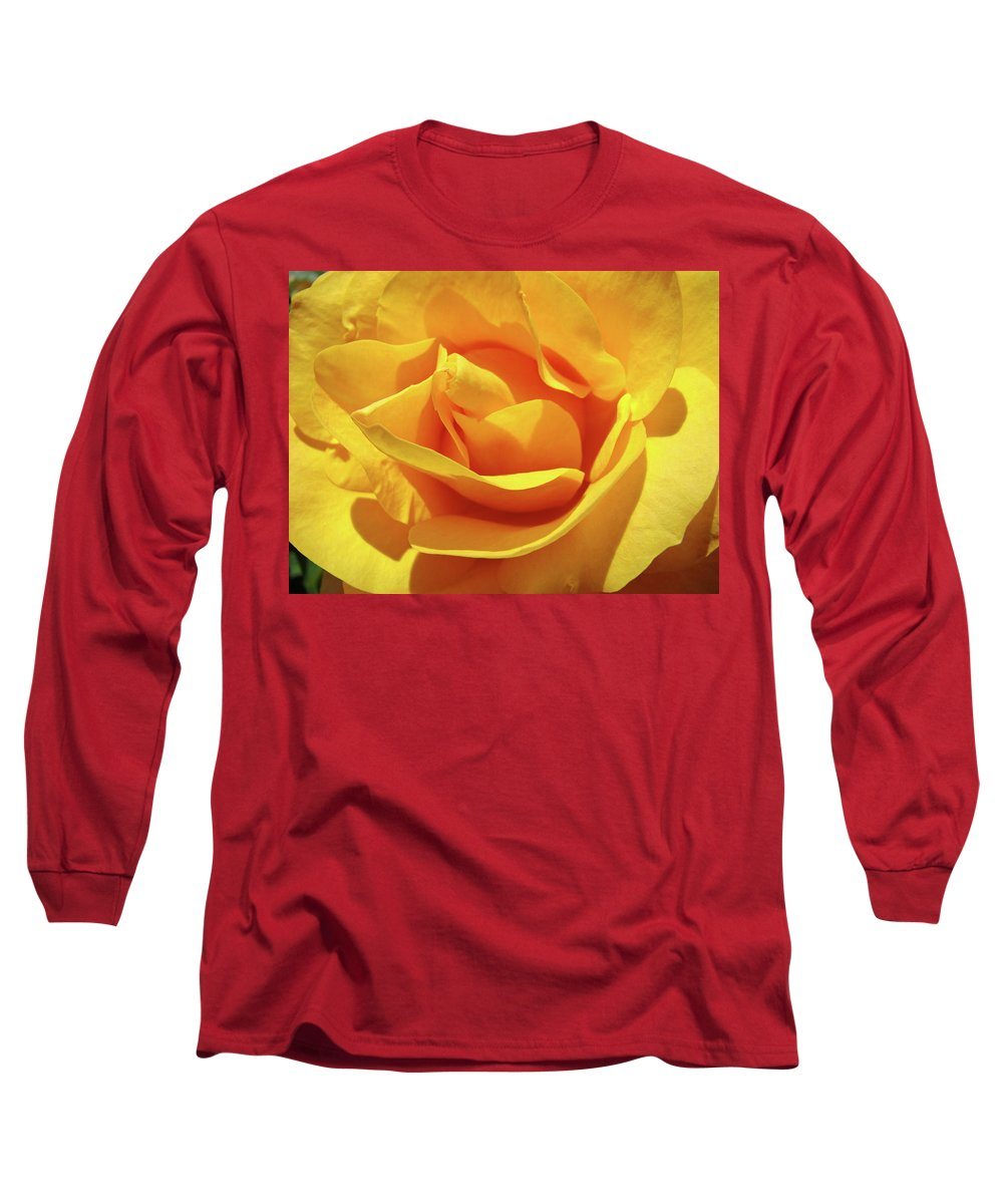 Rose Long Sleeve T-Shirt featuring the photograph Office Art Prints Roses Orange Yellow Rose Flower 1 Giclee Prints Baslee Troutman by Baslee Troutman