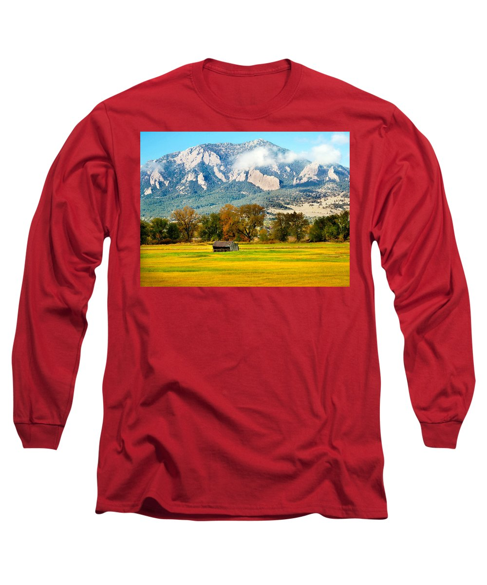 Rural Long Sleeve T-Shirt featuring the photograph Old Shed by Marilyn Hunt