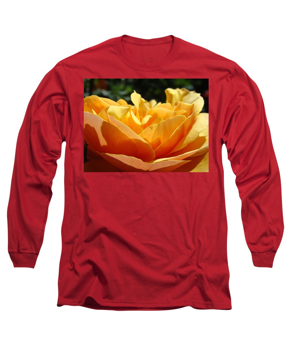 Rose Long Sleeve T-Shirt featuring the photograph Orange Rose Art Prints Baslee Troutman by Baslee Troutman