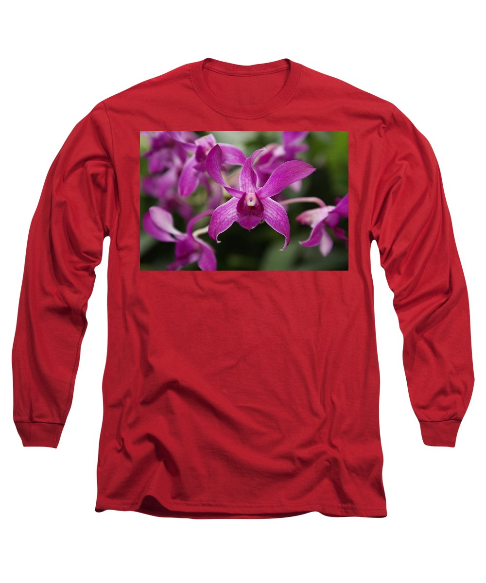 Orchid Long Sleeve T-Shirt featuring the photograph Orchid by Heather Coen