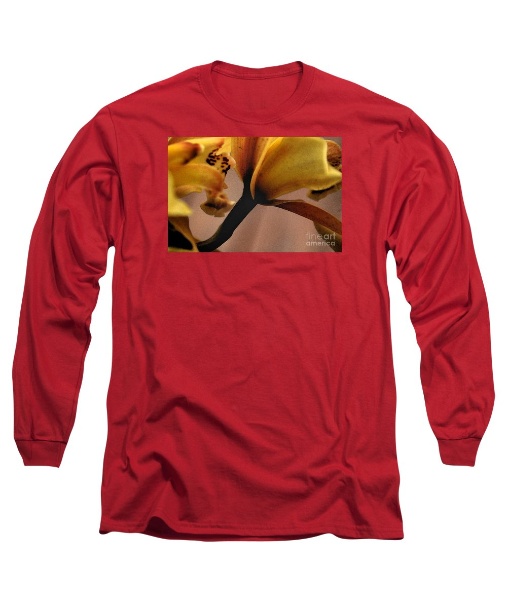 Orchid Long Sleeve T-Shirt featuring the photograph Orchid Yellow by Michael Ziegler