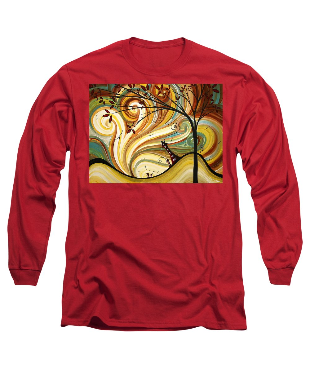 Art Long Sleeve T-Shirt featuring the painting Out West Original Madart Painting by Megan Duncanson