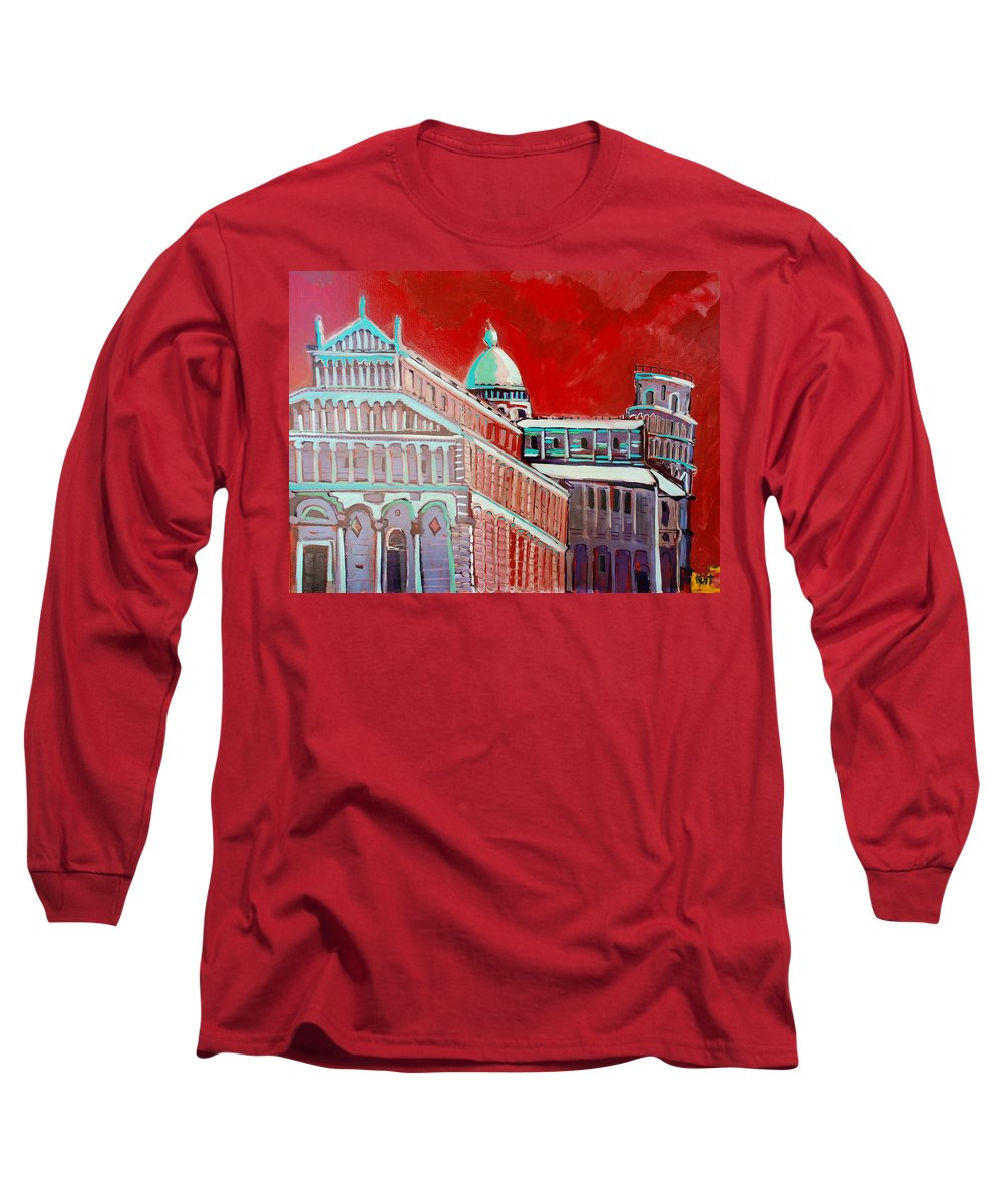 Pisa Long Sleeve T-Shirt featuring the painting Pisa by Kurt Hausmann