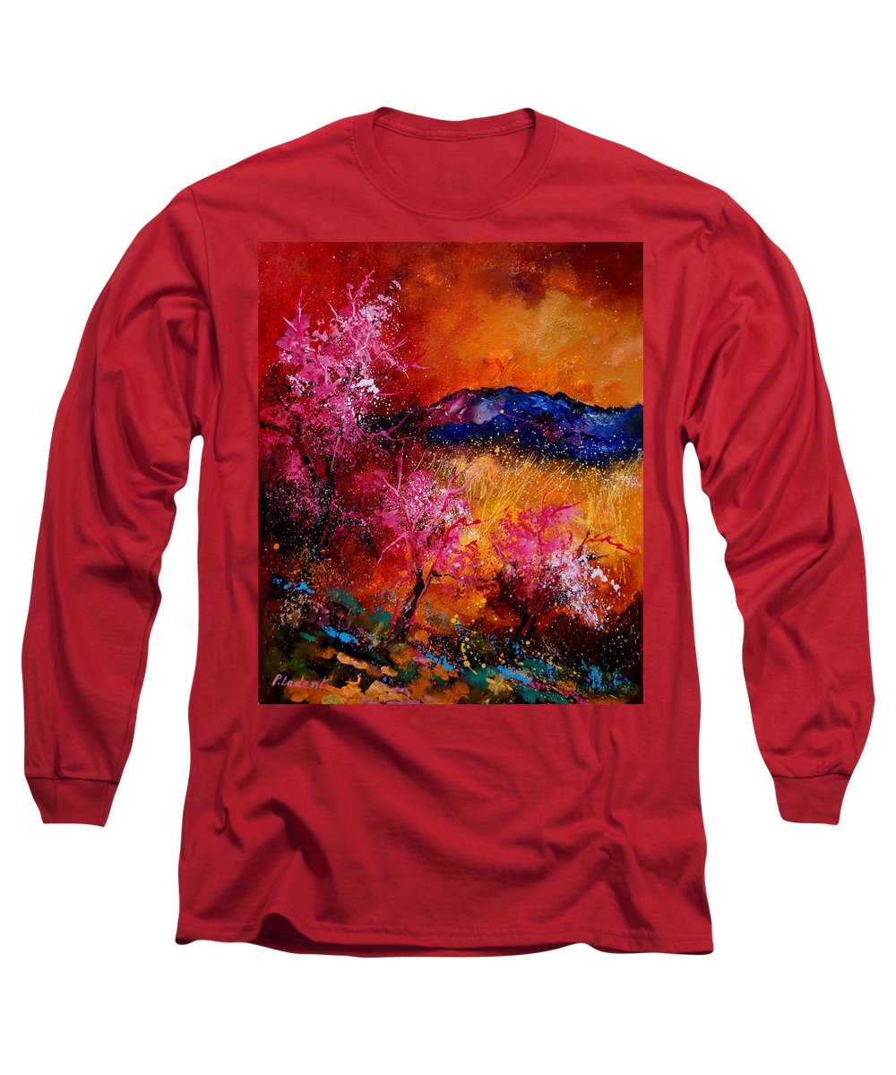 Provence Long Sleeve T-Shirt featuring the painting Provence560908 by Pol Ledent