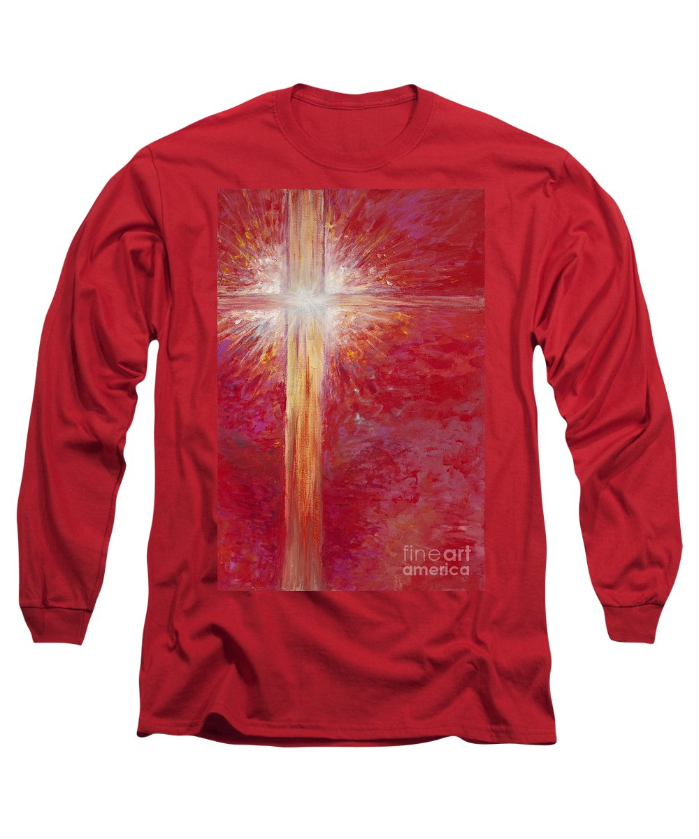 Light Long Sleeve T-Shirt featuring the painting Pure Light by Nadine Rippelmeyer