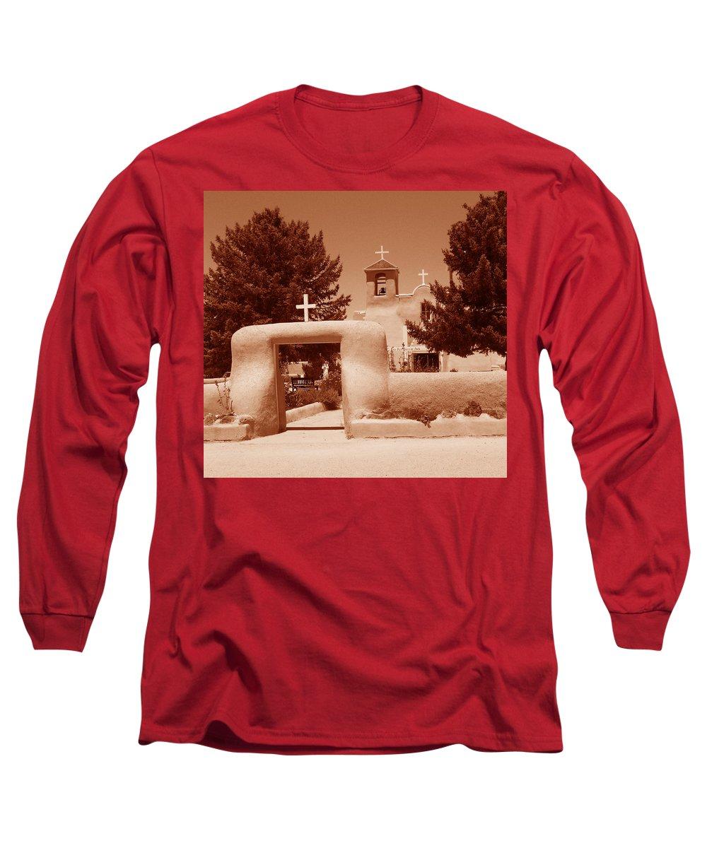 Church Long Sleeve T-Shirt featuring the photograph Ranchos De Taos Church  New Mexico by Wayne Potrafka