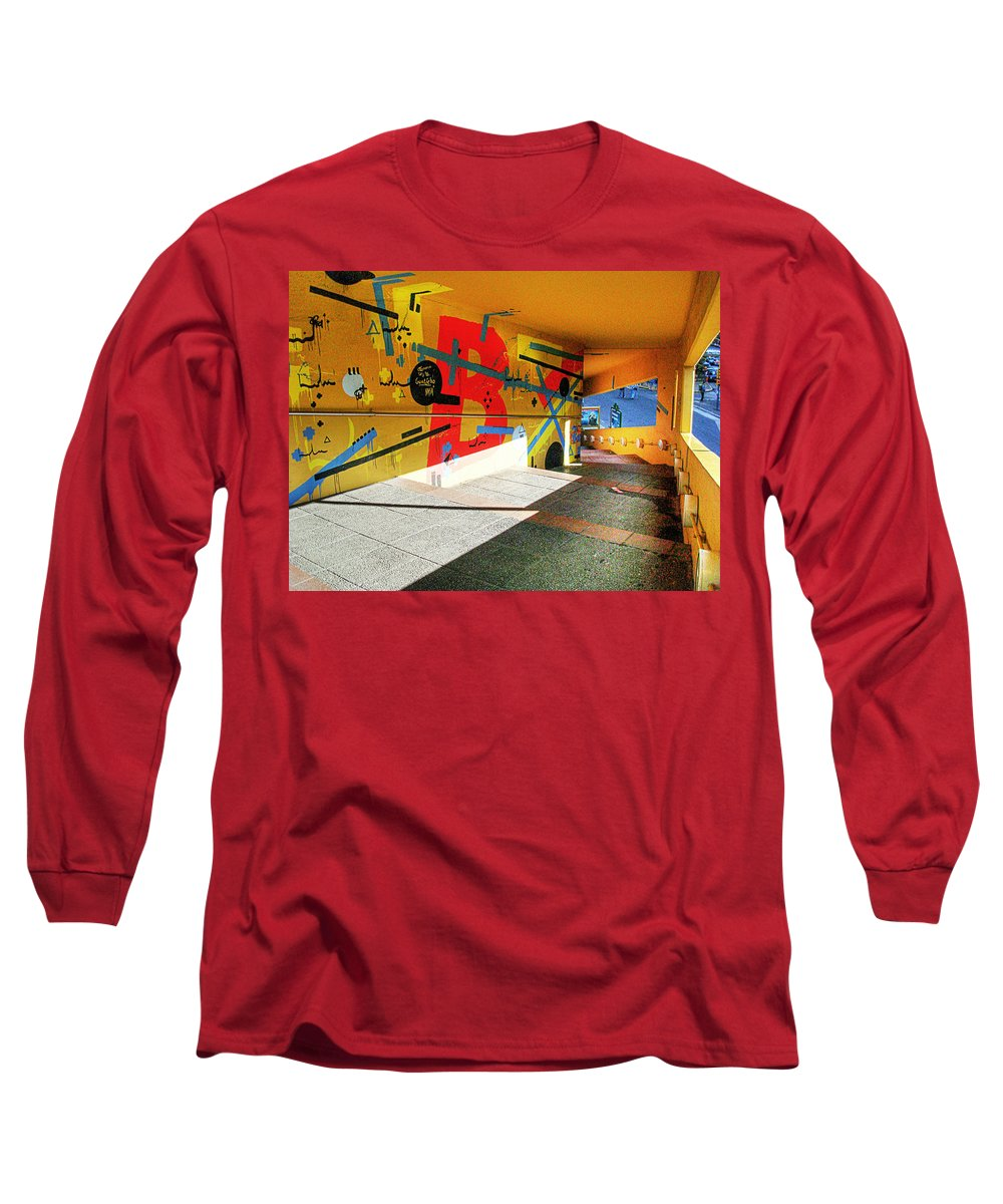 Tunnel Long Sleeve T-Shirt featuring the photograph Recoleta Tunnel by Francisco Colon