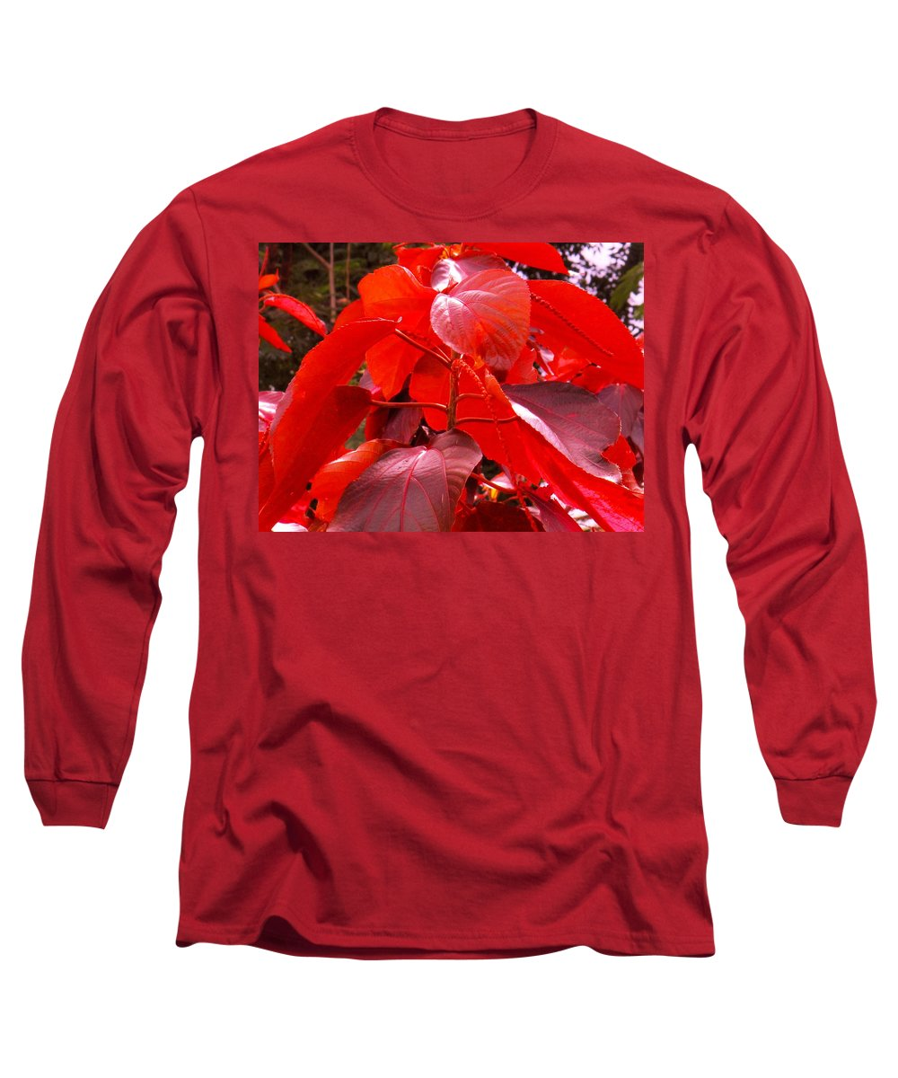 Red Long Sleeve T-Shirt featuring the photograph Red by Ian MacDonald