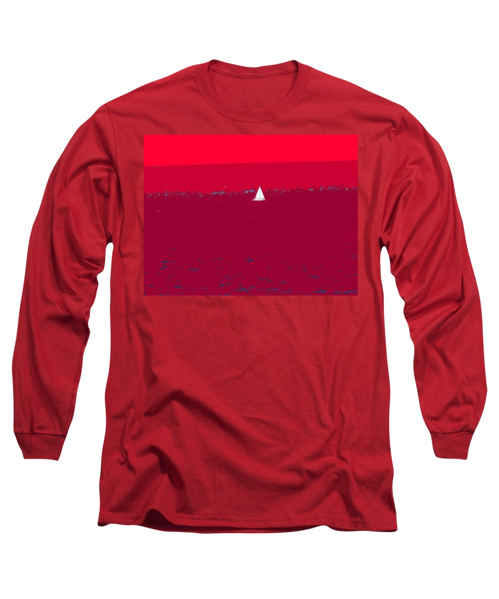 St Kitts Long Sleeve T-Shirt featuring the photograph Red Sea by Ian MacDonald