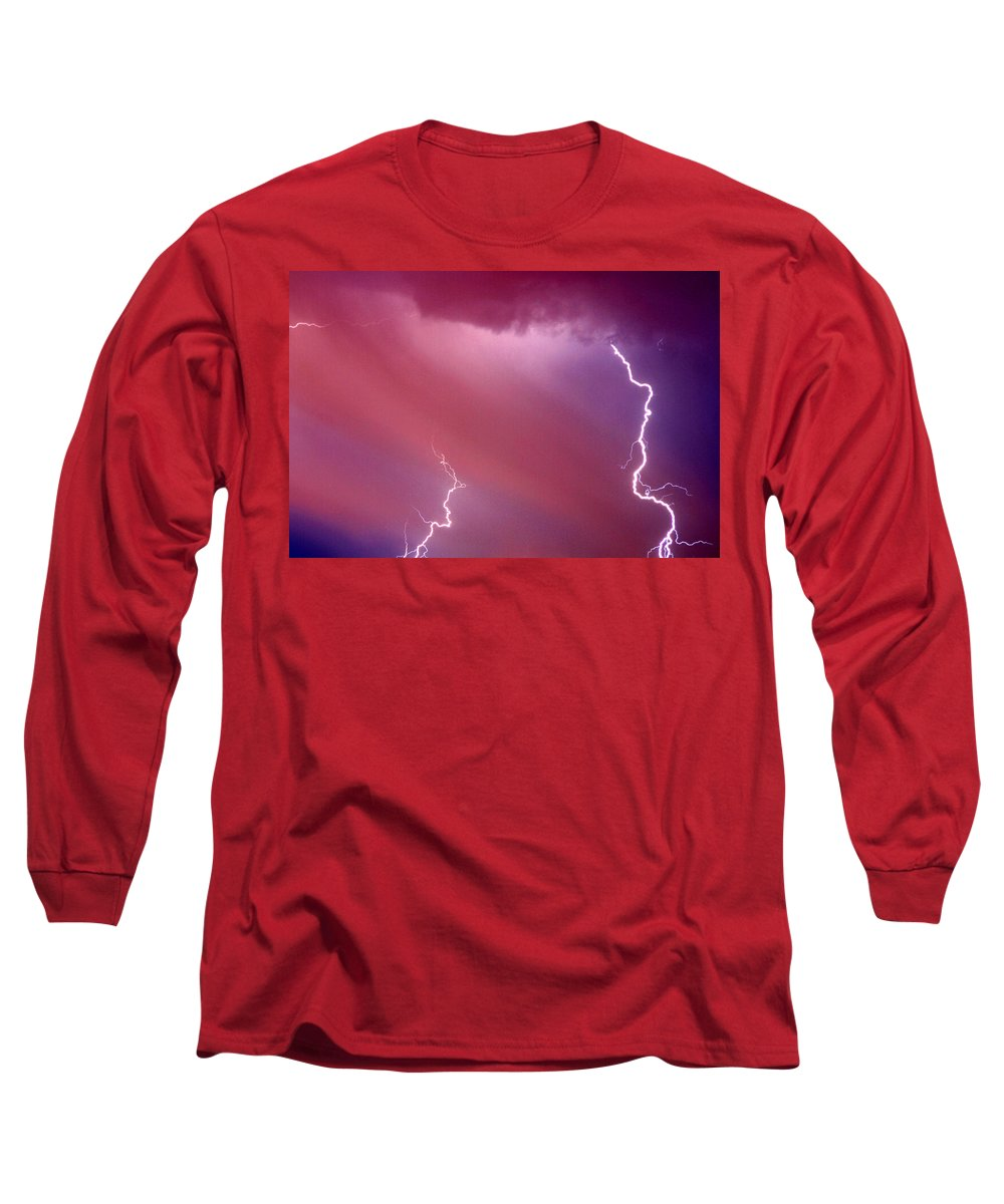 Sky Long Sleeve T-Shirt featuring the photograph Red Storm by Anthony Jones