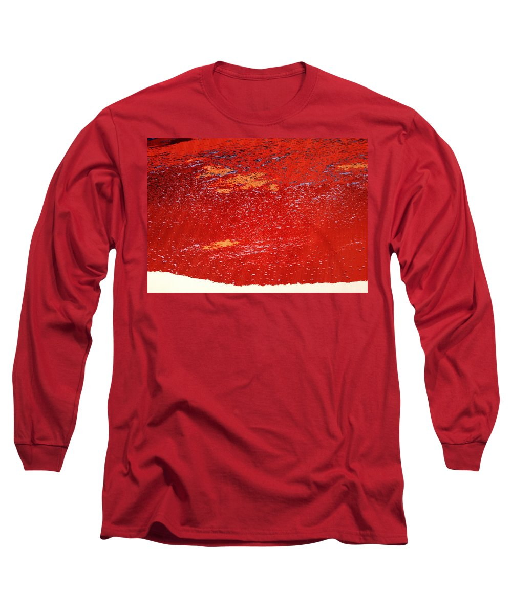 Red Long Sleeve T-Shirt featuring the photograph Red Surf On The Beach by Ian MacDonald