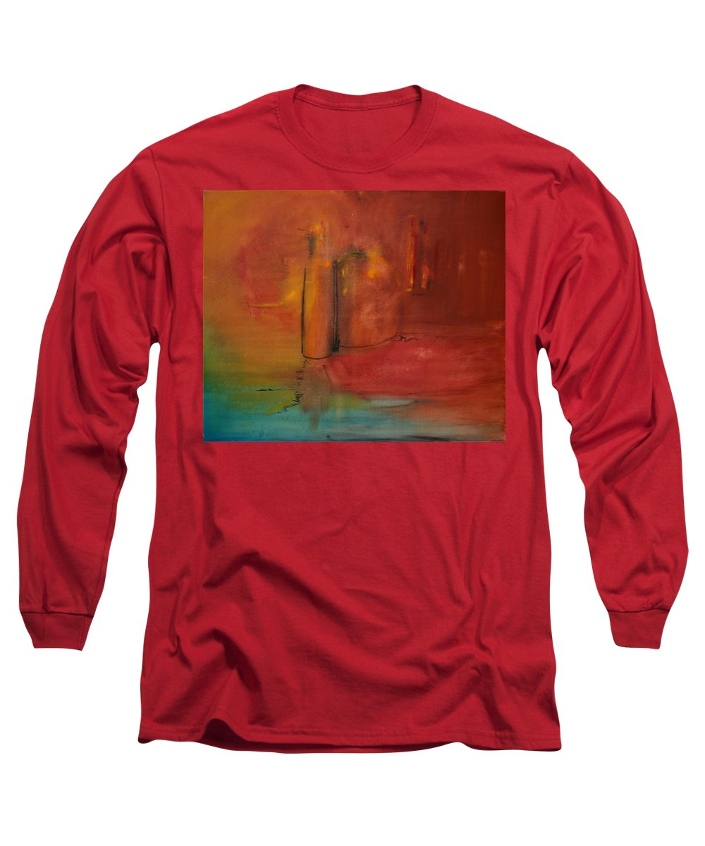Still Long Sleeve T-Shirt featuring the painting Reflection Of Still Life by Jack Diamond