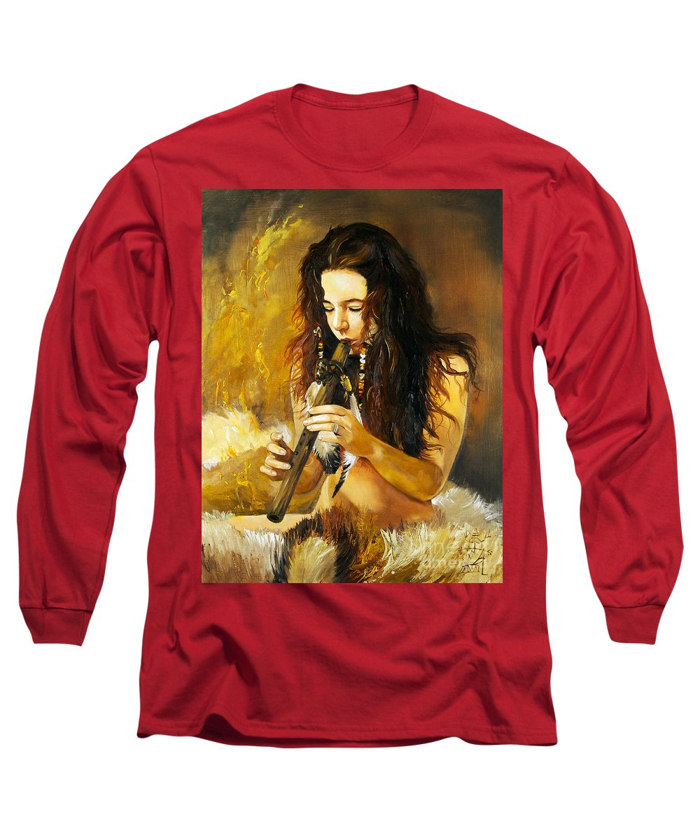 Woman Long Sleeve T-Shirt featuring the painting Release by J W Baker