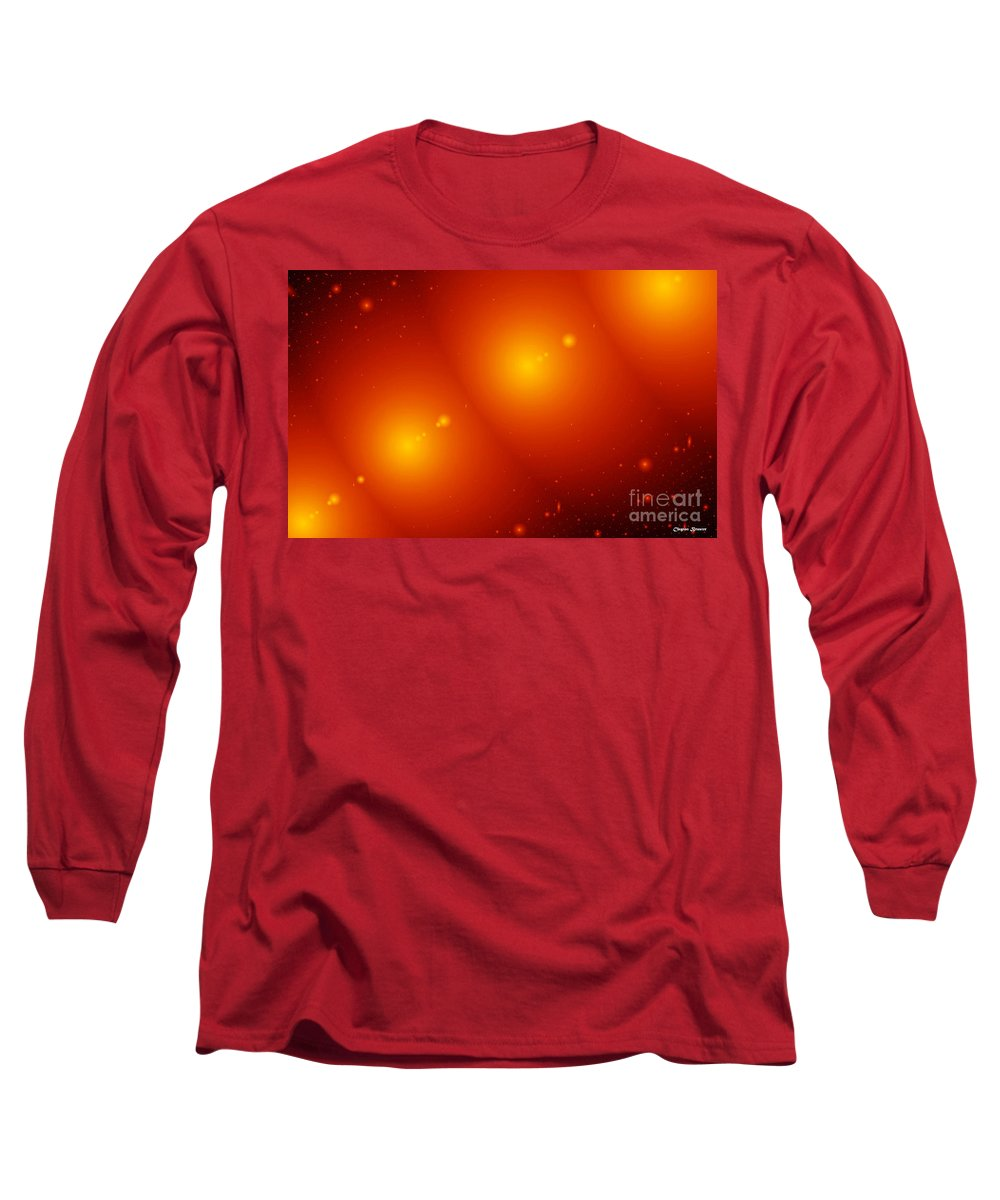 Clay Long Sleeve T-Shirt featuring the digital art Rings Of Saturn by Clayton Bruster