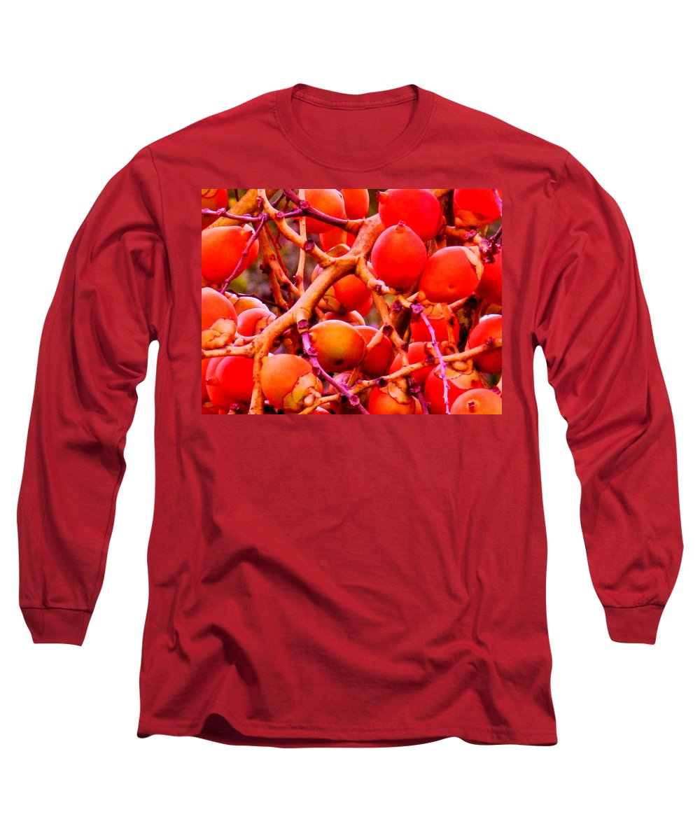 Red Long Sleeve T-Shirt featuring the photograph Romney Red by Ian MacDonald