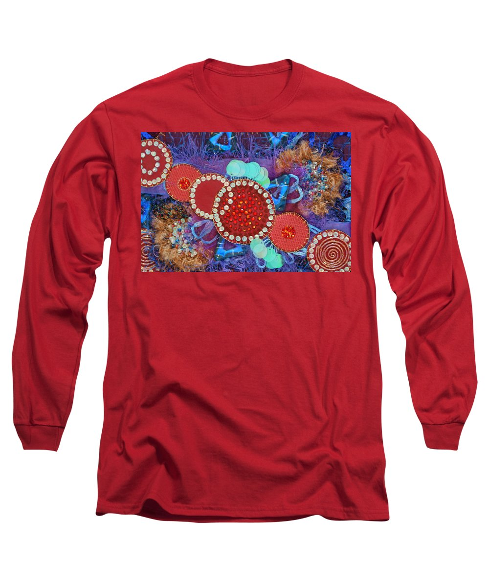 Long Sleeve T-Shirt featuring the mixed media Ruby Slippers 2 by Judy Henninger